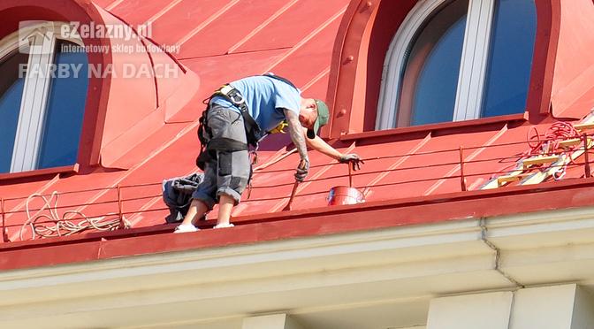 Malowanie dachu farbą Lowicyn-sx